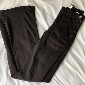 Frame Denim Black Flared Jeans